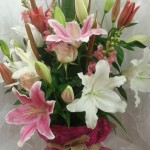 Gorgeous scented lily arrangements